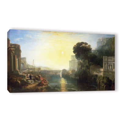 Brushstone Dido Building Carthage or The Rise of The Carthagnian Empire Gallery Wrapped Canvas WallArt
