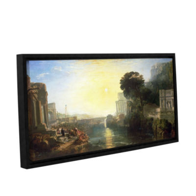 Brushstone Dido Building Carthage or The Rise of The Carthagnian Empire Gallery Wrapped Floater-Framed Canvas Wall Art
