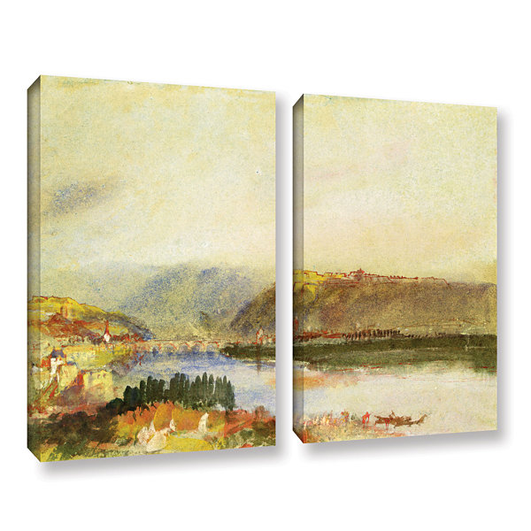 Brushstone Givet from The North 2-pc. Gallery Wrapped Canvas Wall Art