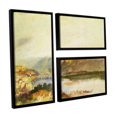 Brushstone Givet from The North 3-pc. Flag FloaterFramed Canvas Wall Art