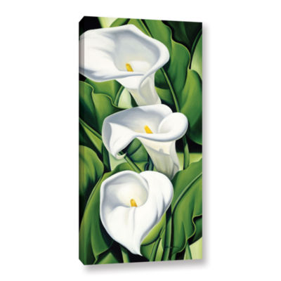 Brushstone Lillies  2002 Gallery Wrapped Canvas Wall Art
