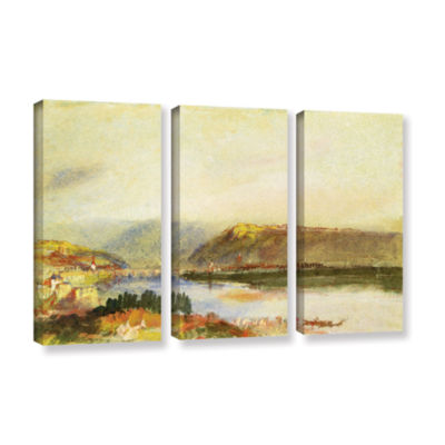 Brushstone Givet from The North 3-pc. Gallery Wrapped Canvas Wall Art