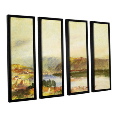 Brushstone Givet from The North 4-pc. Floater Framed Canvas Wall Art