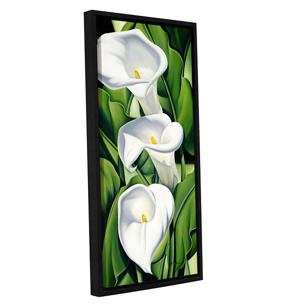 Brushstone Lillies  2002 Gallery Wrapped Floater-Framed Canvas Wall Art