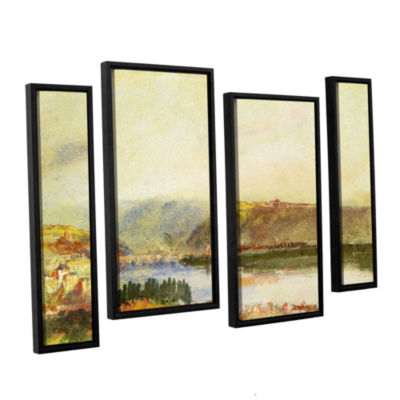 Brushstone Givet from The North 4-pc. Floater Framed Staggered Canvas Wall Art