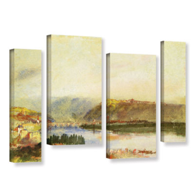 Brushstone Givet from The North 4-pc. Gallery Wrapped Staggered Canvas Wall Art