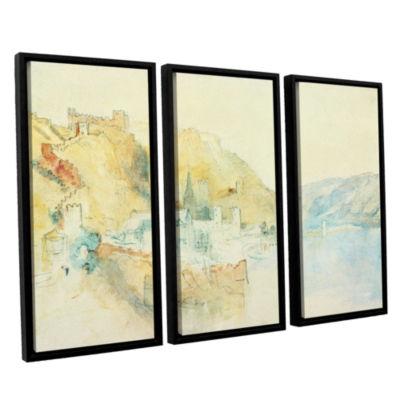 Brushstone On The Rhine 3-pc. Floater Framed Canvas Wall Art