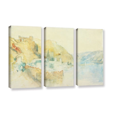 Brushstone On The Rhine 3-pc. Gallery Wrapped Canvas Wall Art