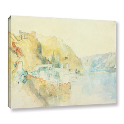 Brushstone On The Rhine Gallery Wrapped Canvas Wall Art