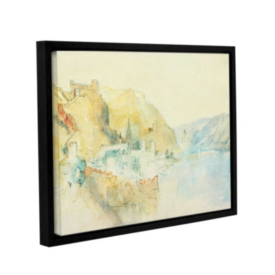 Brushstone On The Rhine Gallery Wrapped Floater-Framed Canvas Wall Art