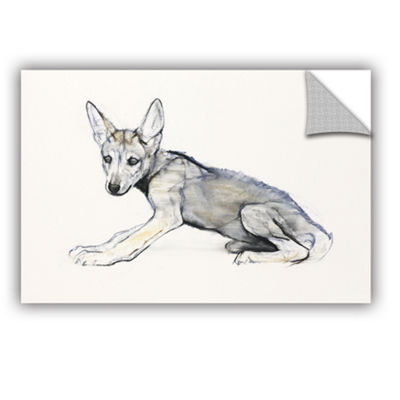 Brushstone Adolescent Arabian Wolf Pup Removable Wall Decal