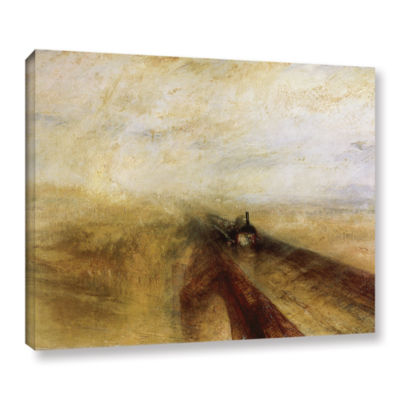 Brushstone Rain Steam and Speed; The Great WesternRailway Gallery Wrapped Canvas Wall Art