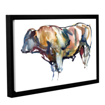 Brushstone After Sunset Gallery Wrapped Floater-Framed Canvas Wall Art
