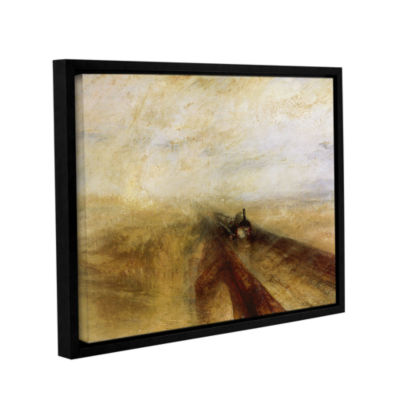 Brushstone Rain Steam and Speed; The Great WesternRailway Gallery Wrapped Floater-Framed Canvas Wall Art