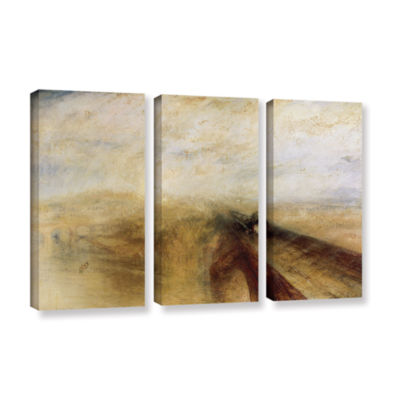 Brushstone Rain Steam and Speed; The Great WesternRailway II 3-pc. Gallery Wrapped Canvas Wall Art