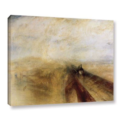 Brushstone Rain Steam and Speed; The Great WesternRailway II Gallery Wrapped Canvas Wall Art