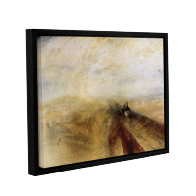 Brushstone Rain Steam and Speed; The Great WesternRailway II Gallery Wrapped Floater-Framed CanvasWall Art