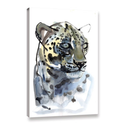 Brushstone Arabian Leopard I Gallery Wrapped Canvas Wall Art