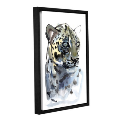 Brushstone Arabian Leopard I Gallery Wrapped Floater-Framed Canvas Wall Art
