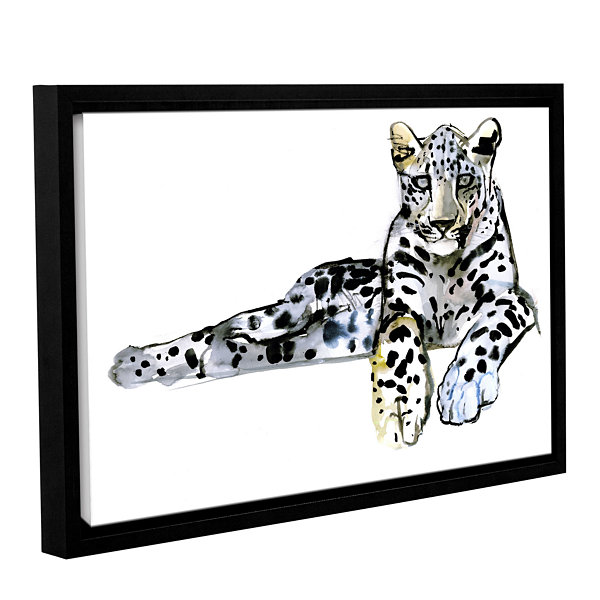 Brushstone Arabian Leopard II Gallery Wrapped Floater-Framed Canvas Wall Art