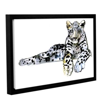 Brushstone Arabian Leopard II Gallery Wrapped Floater-Framed Canvas Wall Art