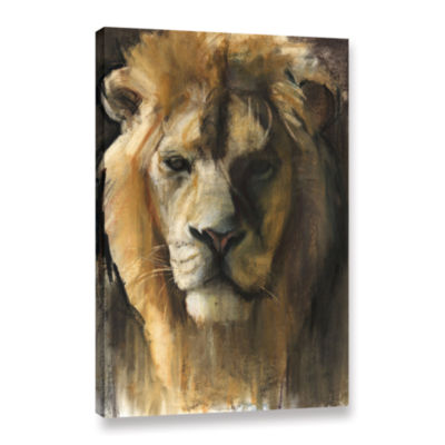 Brushstone Asiatic Lion Gallery Wrapped Canvas Wall Art