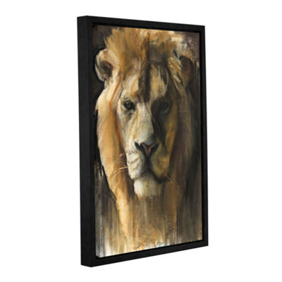Brushstone Asiatic Lion Gallery Wrapped Floater-Framed Canvas Wall Art