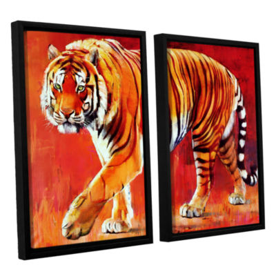 Brushstone Bengal Tiger 2-pc. Floater Framed Canvas Wall Art