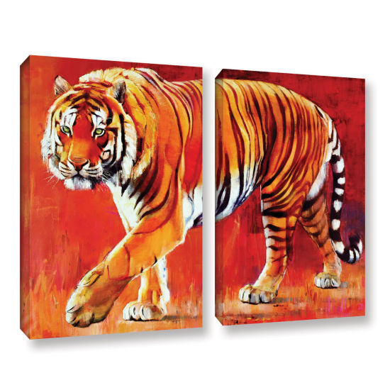Brushstone Bengal Tiger 2-pc. Gallery Wrapped Canvas Wall Art