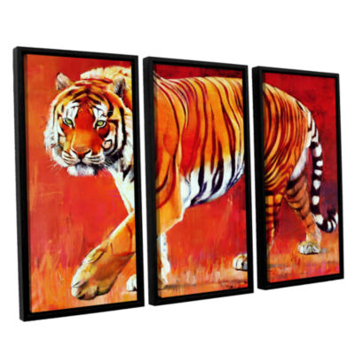Brushstone Bengal Tiger 3-pc. Floater Framed Canvas Wall Art