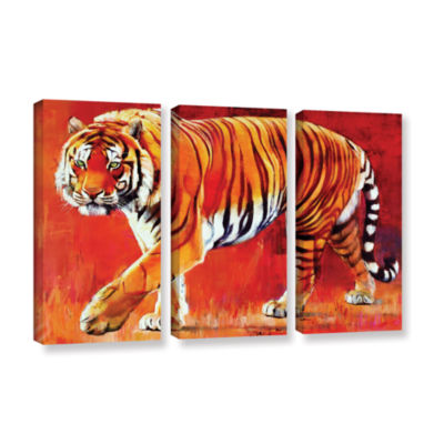 Brushstone Bengal Tiger 3-pc. Gallery Wrapped Canvas Wall Art