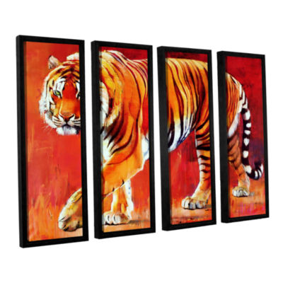 Brushstone Bengal Tiger 4-pc. Floater Framed Canvas Wall Art