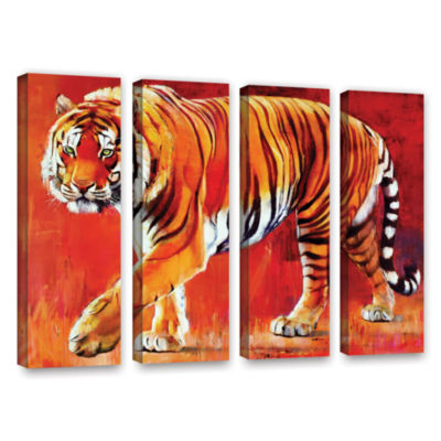 Brushstone Bengal Tiger 4-pc. Gallery Wrapped Canvas Wall Art