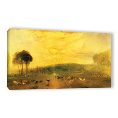 Brushstone Sunset; Fighting Bucks Gallery Wrapped Canvas Wall Art