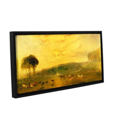 Brushstone Sunset; Fighting Bucks Gallery WrappedFloater-Framed Canvas Wall Art