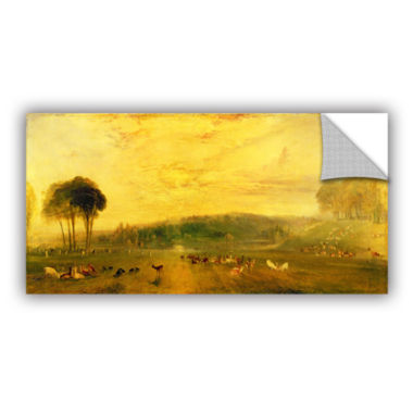 Brushstone Sunset; Fighting Bucks Removable Wall Decal
