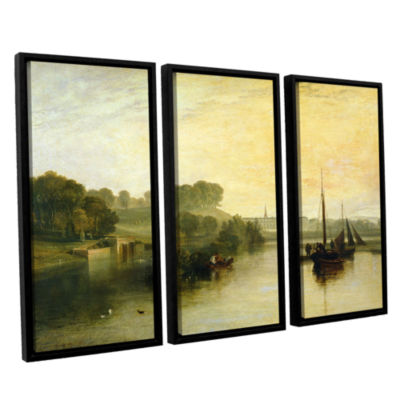 Brushstone Susse by The Seat of The Earl of Egremont Dewy Morning 3-pc. Floater Framed Canvas Wall Art