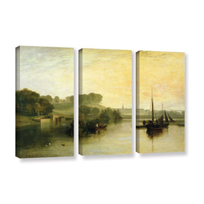Brushstone Susse by The Seat of The Earl of Egremont Dewy Morning 3-pc. Gallery Wrapped Canvas WallArt