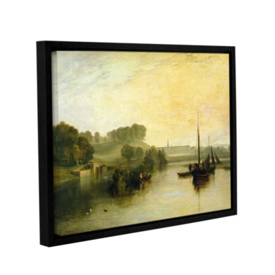Brushstone Susse by The Seat of The Earl of Egremont Dewy Morning Gallery Wrapped Floater-Framed Canvas Wall Art