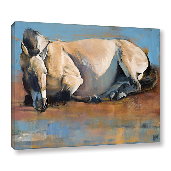 Brushstone Blue Sky Day Gallery Wrapped Canvas Wall Art