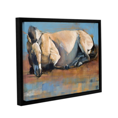 Brushstone Blue Sky Day Gallery Wrapped Floater-Framed Canvas Wall Art