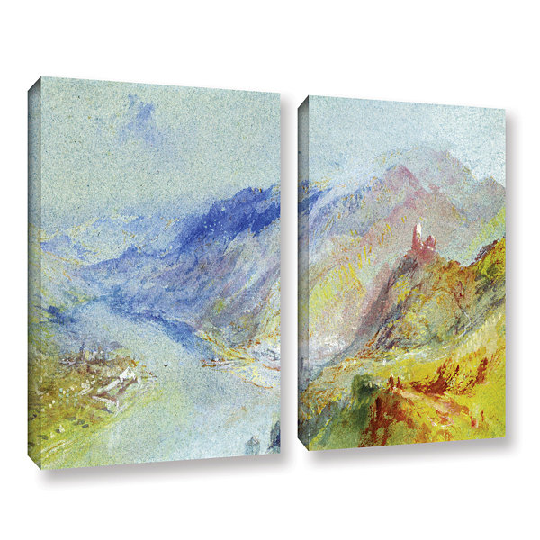Brushstone The Castle of Trausnitz Overlooking Landshut 2-pc. Gallery Wrapped Canvas Wall Art