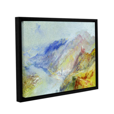 Brushstone The Castle of Trausnitz Overlooking Landshut Gallery Wrapped Floater-Framed Canvas Wall Art