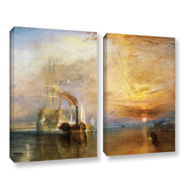 Brushstone The Fighting Temeraire 2-pc. Gallery Wrapped Canvas Wall Art