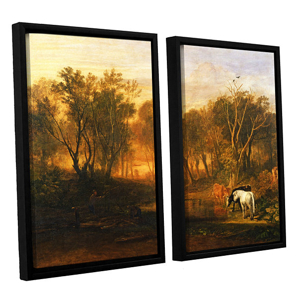 Brushstone The Forest of Bere 2-pc. Floater FramedCanvas Wall Art