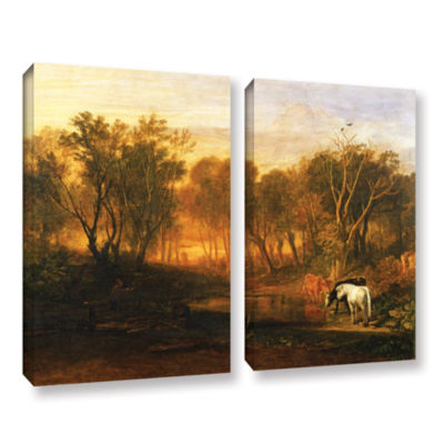 Brushstone The Forest of Bere 2-pc. Gallery Wrapped Canvas Wall Art
