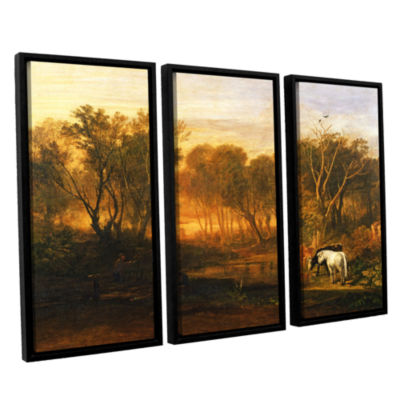 Brushstone The Forest of Bere 3-pc. Floater FramedCanvas Wall Art