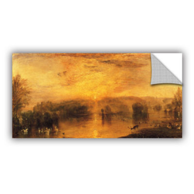 Brushstone The Lake; Petworth Sunset; a Stag Drinking Removable Wall Decal