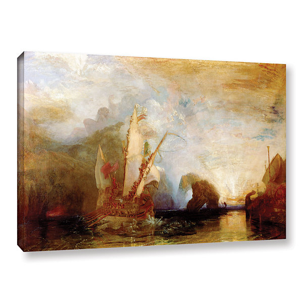 Brushstone Ulysses Deriding Polyphemus Gallery Wrapped Canvas Wall Art
