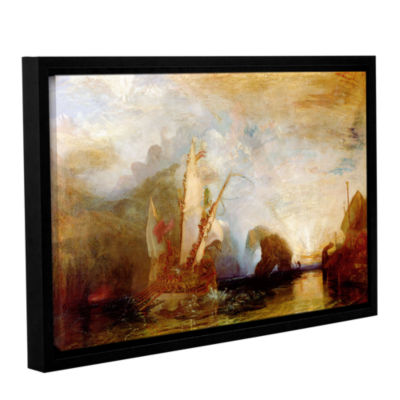 Brushstone Ulysses Deriding Polyphemus Gallery Wrapped Floater-Framed Canvas Wall Art